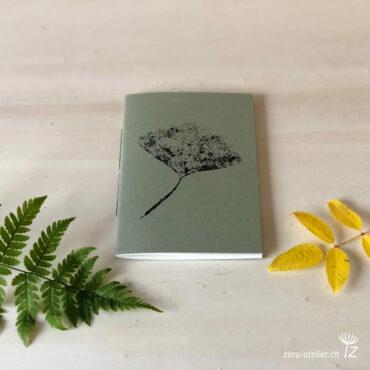 zera atelier produits cahier pocket ginkgo kaki 370x370 - Cahier pocket - Ginkgo